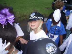 This time a policewoman
