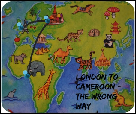 london to cameroon map