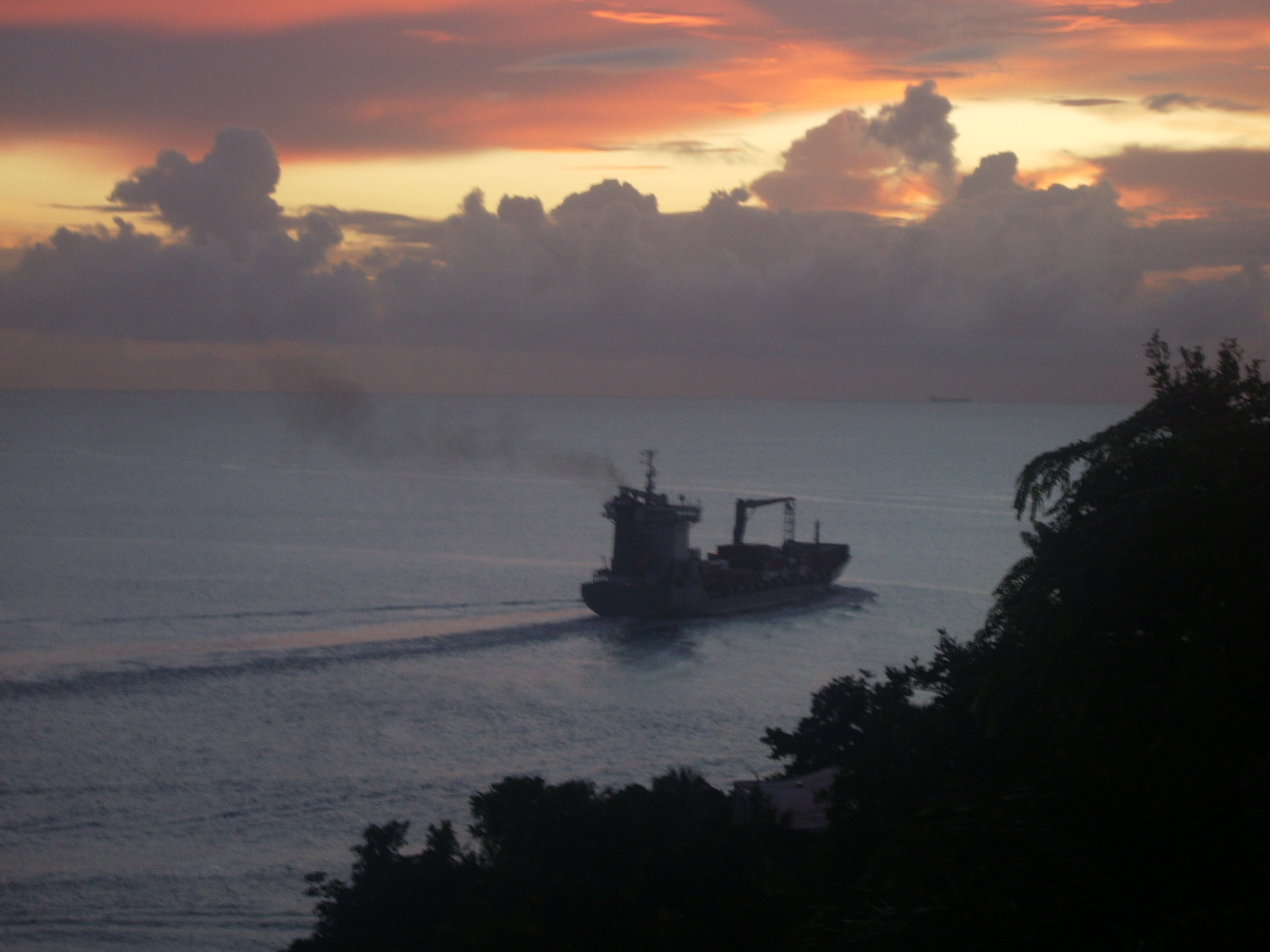 International Owner Rituals Sept Container Ship And Sunset