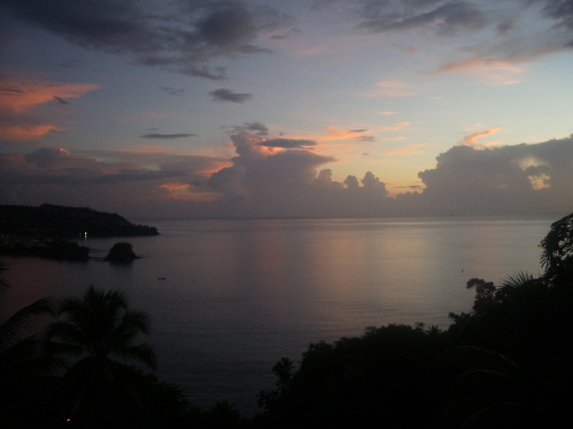 The view from our St Lucia villa#1