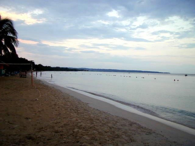 The beautiful beach in Negril, Jamaica.