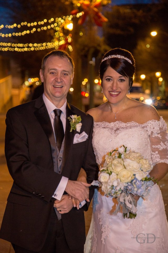 Wedding photo of the 2 of us outside the courthouse in Decatur after our wedding in Dec 2015