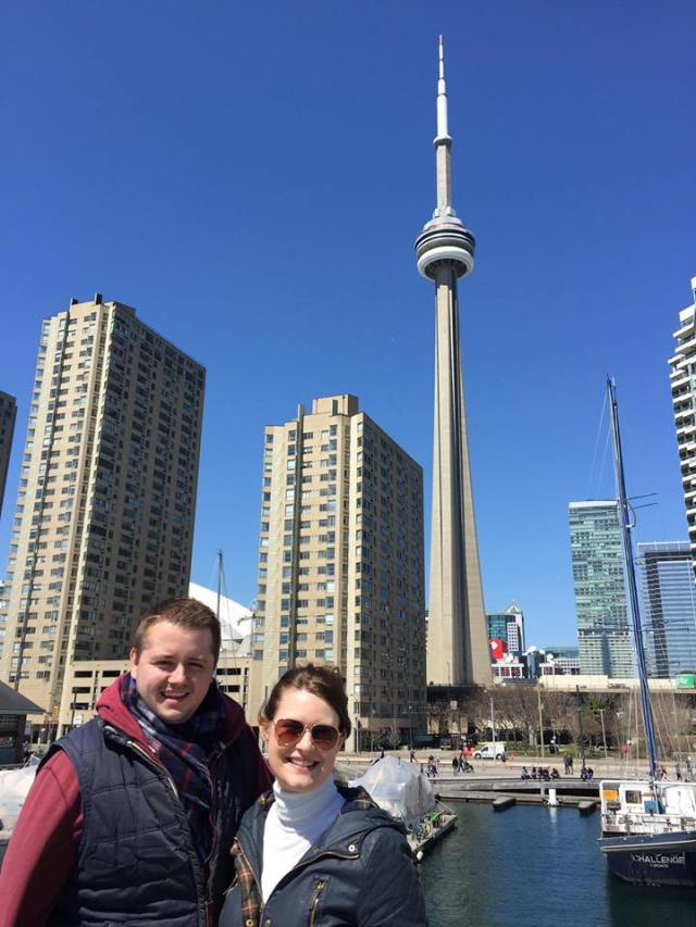Me, My partner and the CN Tower