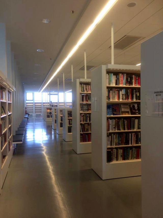 8- library
